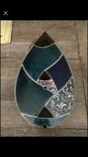 New listing Julie Kelly vintage stained glass bird feeder