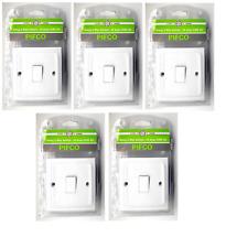 5 x Light Switch Single Gang 2 Way 1 Gang 10A 230v AC White Plastic Wall Switch