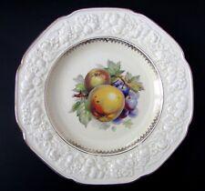 "Crown Ducal Florentine Embossed Rim Apple and Grape 10 1/2"" Serving Plate"