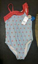Junk Food Disney Girls Mickey Mouse Ruffle 1Pc Bathing Suit Size Small (3982)