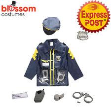 K740 Kids Police Cops Uniform Child Boys Girls Cosplay Party Book Week Costume