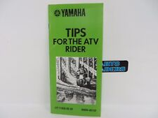 Genuine Vintage Yamaha Tips For The ATV Rider 1985 LIT-11626-05-50