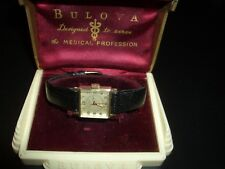 "SUPERB*1951 BULOVA,""AMERICAN NURSE""PROFESSIONAL WATCH*17J*W/MEDICAL BOX*RUNS"