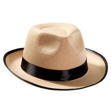 STYLISH BEIGE #FEDORA ADULT HAT THE GREAT GATSBY FANCY DRESS 1920s ACCESSORY