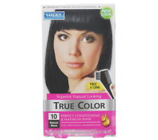 3 PACK LUCKY SUPER SOFT TRUE COLOR NATURAL BLACK WOMEN'S HAIR COLOR NEW