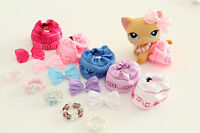 16 Mixed Accessories Skirts, Necklaces & Bows For LPS Littlest Pet Shop