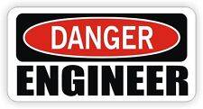 Danger - Engineer Hard Hat Sticker / Decal Funny Label Toolbox Engineering USA