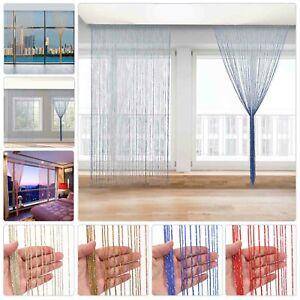 UK Hanging Beaded Curtain String Door Window Curtains Tassel Fly Screen Panel.