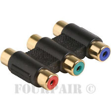 3 RCA Component Video Cable Joiner Coupler Adapter Female to Female F/F RGB AV