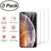 for iPhone 11 Pro Max Xs XR X 7 8 6 6s Plus Screen Protector Tempered Glass Lot