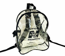Official Nascar Member RaceDay See-through Clear Backpack