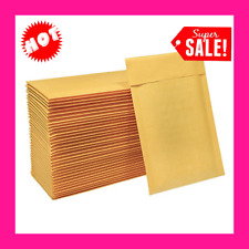 New listing 50 Pcs 4x8 Orange Bubble Wrap Mailers Padded Mailing Envelope Bags Lightweight