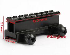 Tactical 8 Slots 21mm Weaver Picatinny Rail Base Riser Scope Mount f Laser Sight