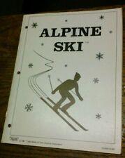 Taito ALPINE SKI Arcade Video Game Manual - good used original