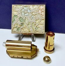 Outstanding Combination Powder Compact Lipstick Tube Perfume Bottle Mirror