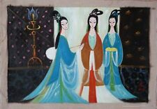 """Excellent Chinese 100% Hand Oil Painting """"Beauty"""" By Lin Fengmian 林风眠  C1"""