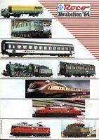 Roco Modelleisenbahnen Prospekt 1984 News Modellbahn brochure model railway 1:87