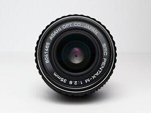 ++ CRYSTAL CLEAR OPTICS ++  SMC PENTAX M 35mm F2.8 PK Mount Prime Lens LX MX ME