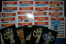 Vintage tazón de fuente de sangre Games Workshop lista de múltiples tarjetas de repuesto fuera de imprenta