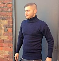 Made in Great Britain Submariner Roll Neck Sweater in 100% British Wool