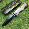 "Tac Force 7 7/8"" Assisted Open Wood Handle Eagle Artwork Folding Pocket Knife"