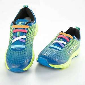 KIDS UK STOCK Easy No Tie Elastic Shoe Lace 100%Silicone Trainers -multicolor
