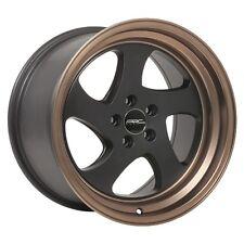 17x9.5 ARC AR5 5x100 +20 Black Rims Fits Vw Jetta Golf Passat Beetle Gti