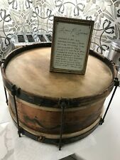 Old Antique 1870's Wooden wood Drum White & Goullaud instrument musical
