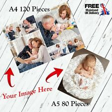 Personalised Jigsaw Puzzle Traditional Custom Gift Print Photo/Collage/Logo/Text