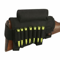 Tactical Shooting Rifle Buttstock Cheek Rest Riser Ammo Holder Mag Pouch-TOURBON