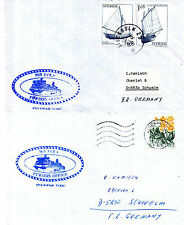 SWEDEN FERRY MS SVEA TWO SHIPS CACHED COVERS