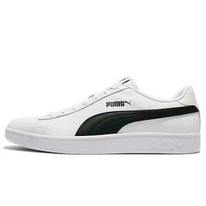 PUMA Men's Smash v2 Leather Sneaker White