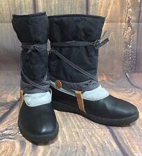 TECNICA Womans Nylon Boots Black Grey Size 39 Euro Size 7 US