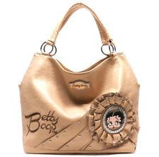Betty Boop Tan Beige Leather Hobo Style Purse