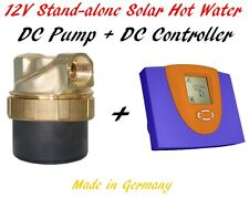 Off-grid Stand-alone Solar Hot Water 12V DC Solar Controller 12V DC Pump