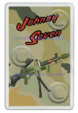 JOHNNY SEVEN OMA TOY GUN (TOPPER 1964 ) ADVERT NEW JUMBO FRIDGE LOCKER MAGNET