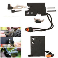 18 in 1 Multifunction Pocket Credit Card Outdoor Camping Rescue Survival Tools