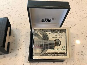 100% Authentic Montblanc Money Clip Wallet Rare Las Vegas Pen With Box