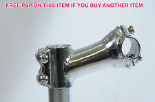 A-HEAD CHROME 28.6mm AHEAD MTB STEM 90mm REACH 25.4mm HANDLEBARS 15 DEGREE