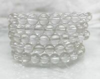 "4pcs 6//8mm Larvikite Round Gemstone Labradorite Beads Stretchable Bracelet 7.5/"""