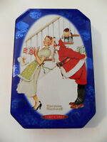Snickers NORMAN ROCKWELL Limited Edition Christmas TIN Canister BOX, 2001, Santa