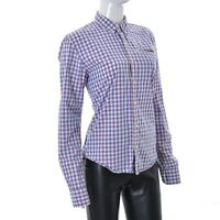 Scotch & Soda Carnaby Surf Womens Long Sleeve Shirt Multi Checked Top Size Small