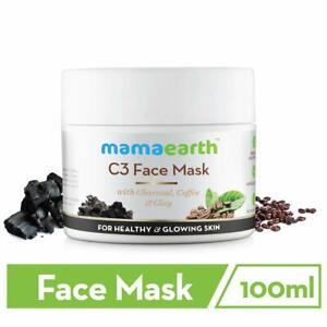 100ml Mamaearth Charcoal, Coffee And Clay Face Mask, Free Shipping Worldwide