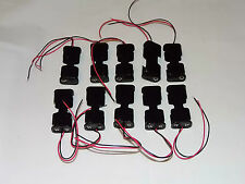 AA x 2 Open Battery Holder Box 15cm Wires fly leads pack of 10
