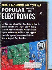 Popular Electronics Magazine Janaury 1964 Tachometer For Car 070517nonjhe