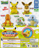 Takara Pokemon Sun & Moon Soft Mascot Gashapon Pikachu Eevee Charmander Set 5pcs