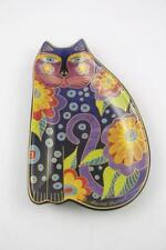 2007 Laurel Burch Wine Things Unlimited Floral Cat Dish~Sonoma CA