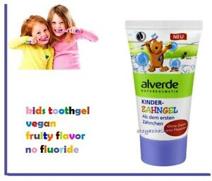 Alverde,Kids Toothpaste,Vegan,Free Fluoride,Bio ingredients,Anti-plaque,50 ml