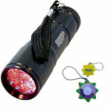 HQRP Red Light Portable Pocket  9 LEDs Flashlight for Hunting and Night Vision