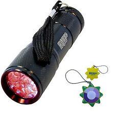 Hqrp luz roja Portátil bolsillo 9 LEDs linterna para caza y Visión nocturna